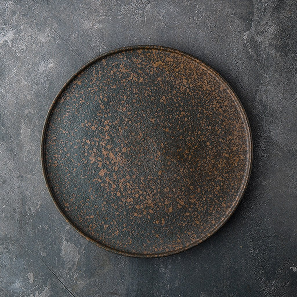 He Xiang Ya Shop Round flat plate tray ceramic plate Bakeware large home breakfast plate fruit salad plate 9 inches by He Xiang Ya Shop (Image #2)