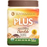 Sunwarrior - Classic Plus, Raw Organic Plant Based Protein, Chocolate, 15 Servings