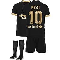 AMD SPORTS Barca Camiseta para niños Messi Viene con Pantalones Cortos y Calcetines, edición visitante Tallas para niños…