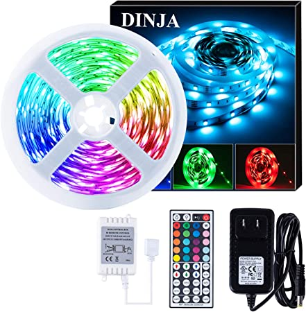 5M SMD LED Light Strip RGB Multi-Color TV Backlight Changing Remote 5V Kit lot