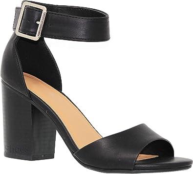 Women Ladies Mid Block Heel Sandals Peep Toe Ankle Strap Comfy Summer Shoes Size