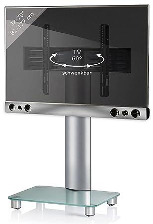 Vcm Pedestal Sbm700 Tv Wall Bracket Incl Soundbar Holder Silver