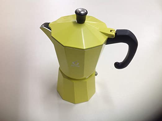 Forever Cafetera 6 Tazas Color Amarillo: Amazon.es: Hogar