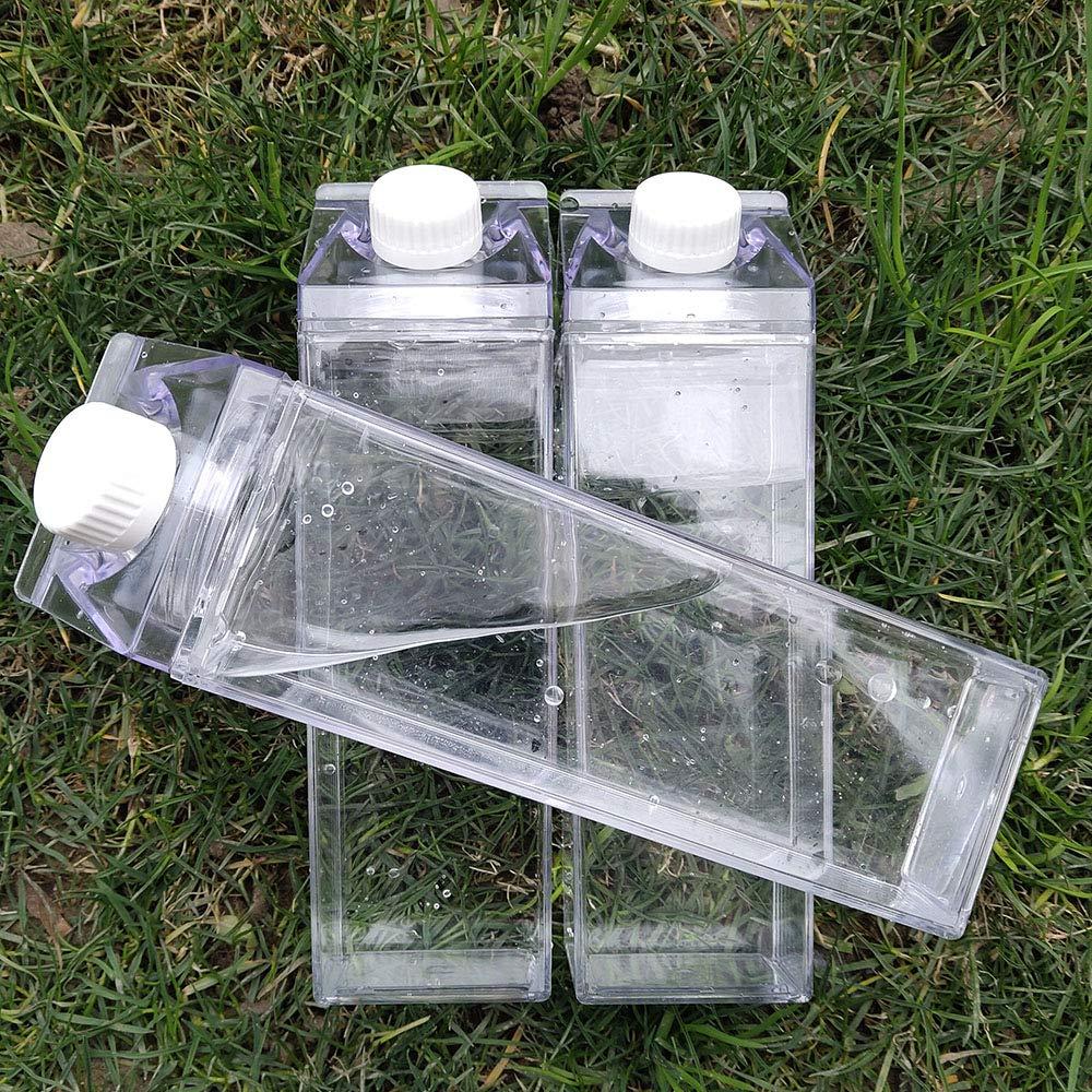 Unicorn Water Bottle - Zero Waste Water Bottle - Milk Box Plastic - Milk Bottles - Juice Bottle - BPA Free Environment Friendly Material 500ml + 2 Cute Unicorn Rings (Style 6)