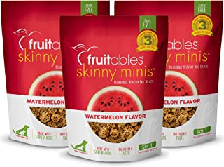 product image for Fruitables Skinny Minis 5 Ounce Grain Free Soft Dog Treats Watermelon Flavor Pack of 3