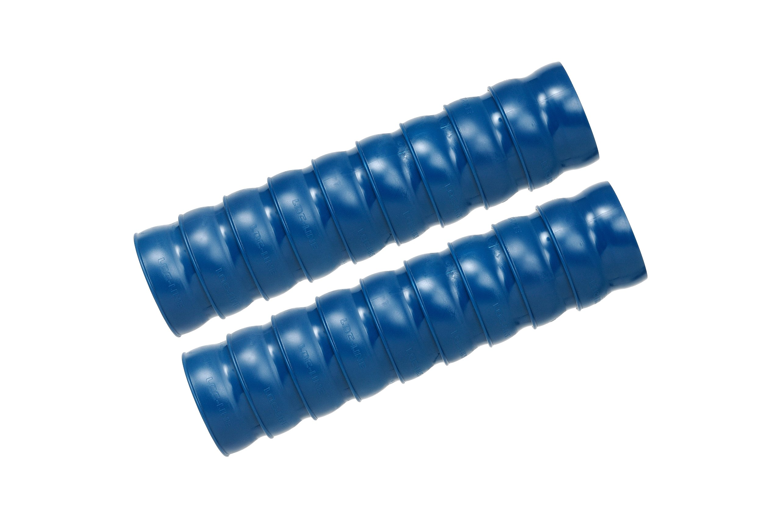 Loc-Line Vacuum Hose Component, Blue Acetal Copolymer, 2-1/2'' ID, 2 x 12'' Length Segments (18 elements total)