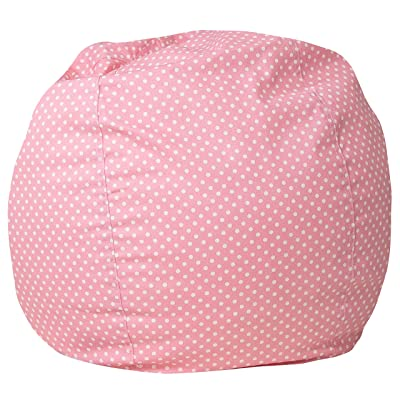 Flash Furniture Small Light Pink Dot Kids Bean Bag Chair: Kitchen & Dining