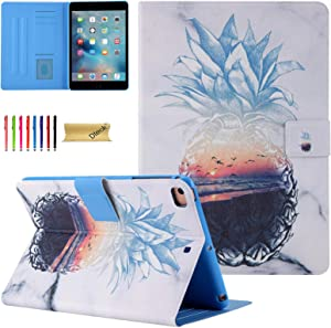 iPad Mini Case, Dteck Lightweight Slim Shell Premium PU Leather Folio Stand Magnetic Protective Case with Auto Wake/Sleep Smart Cover for Apple iPad Mini 1/Mini 2/Mini 3/Mini 4/Mini 5, Sea Pineapple