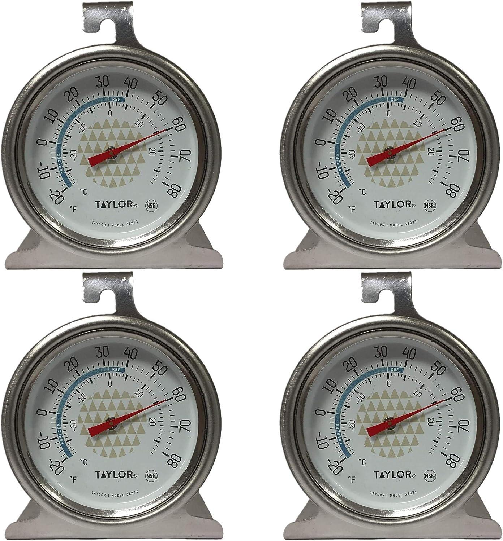 Tru Temp Refrigerator-Freezer Thermometer, 4 Pack