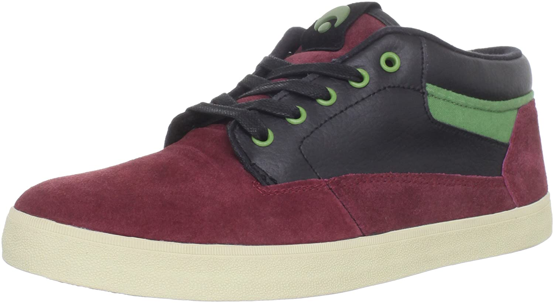 Osiris Chaveta 602379 Unisex - Erwachsene Sportschuhe - Skateboarding Rot (Burgundy-schwarz-olive)