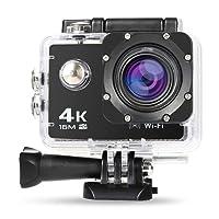 NexGadget Action Kamera 4K WiFi Ultra Full HD 16MP IP68 Wasserdichte Sports Actioncam Helmkamera Sport Kamera Action Camera 30fps mit Zubehör Kit, 170° Weitwinkel 2,0 Zoll LCD