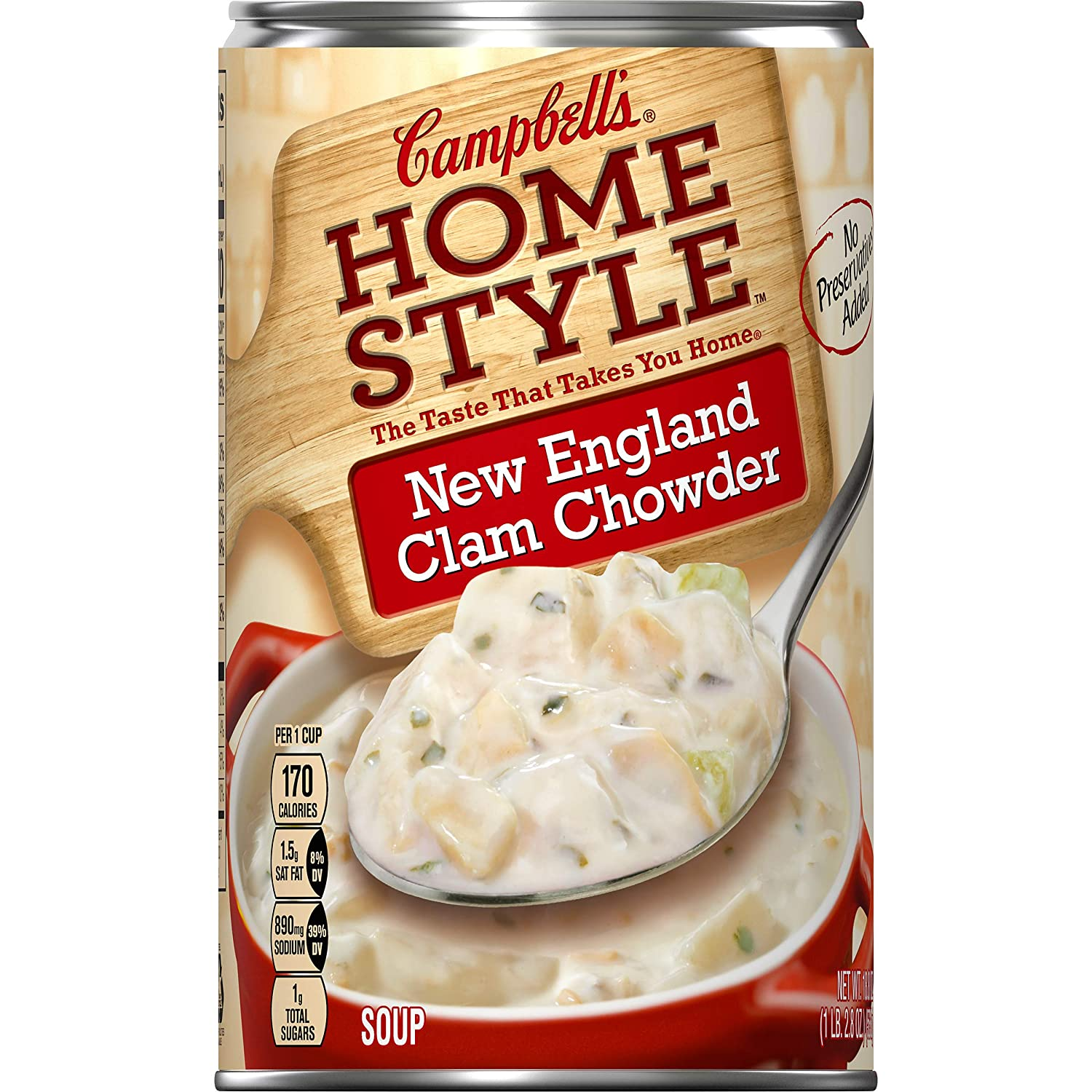 Campbell's Soup, Homestyle New England Clam Chowder, 18.8 oz