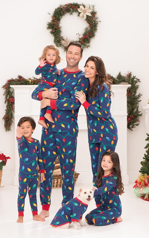 pajamagram christmas lights matching family pajama set blue at amazon womens clothing store - Cheap Christmas Pajamas
