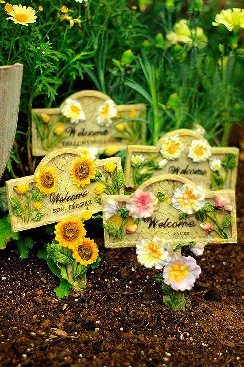 Sungmor - Adornos de Resina Coloridos para jardín o Patio en Palos | Decoración de Plantas para jardín | Adecuado Tanto para Uso Interior como Exterior, Snail: Amazon.es: Jardín
