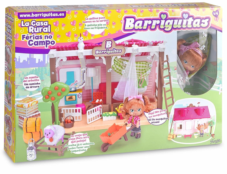 Barriguitas Casa rural Famosa 700013097 mu/ñeca con casa y accesorios