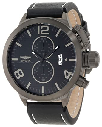 Invicta Men's 10772 Corduba Chronograph Black Textured Dial Watch