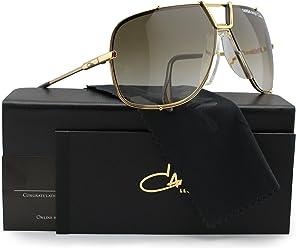 6afa0a8168 Cazal Targa Design 902 Sunglasses Shiny Gold w Brown Gradient (097) 66mm  Authentic