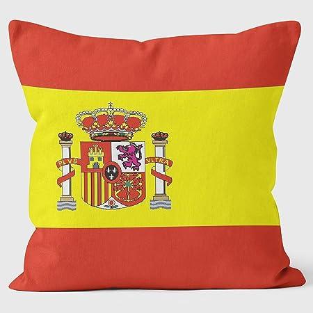 Bandera de España Bandera de España – Almohada Art Print Cojín: Amazon.es: Hogar