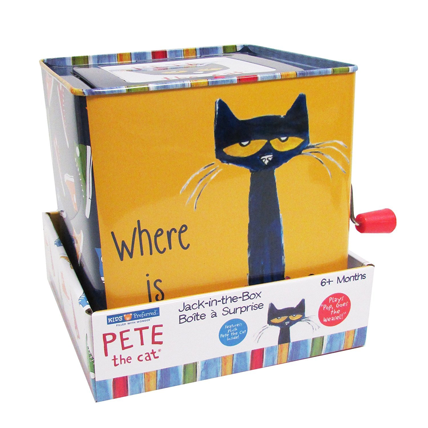 6937a35f3 Amazon.com : Pete The Cat Jack-in-The-Box - Musical Toy for Babies : Baby