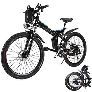 Aceshin 26-Inch Folding Electric Mountain Bike