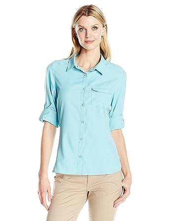 Columbia Camisa de manga larga East Ridge Ii para mujer, Iceberg, X-Small