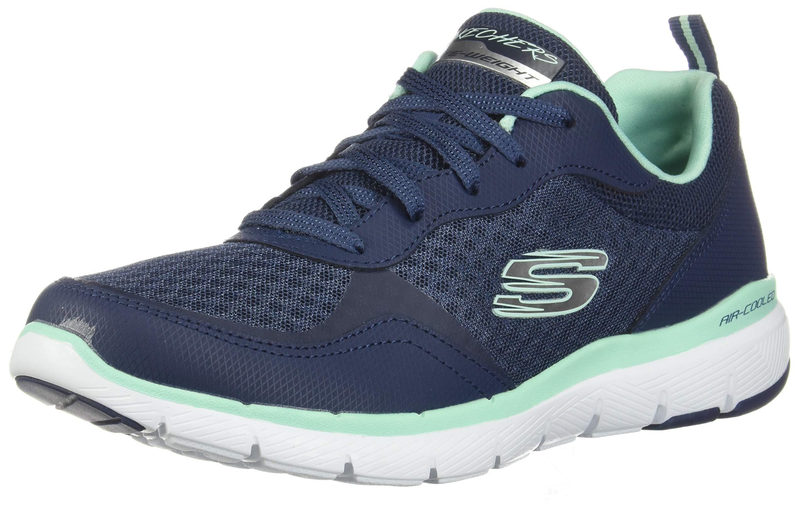 Skechers Women's Flex Appeal 3.0-go Forward Sneaker, NVAQ, 8.5 M US