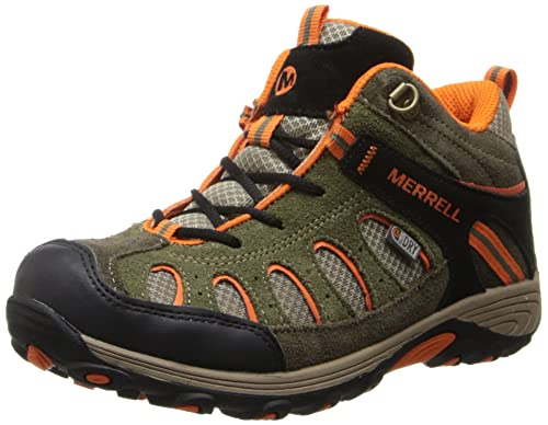 27f082d960 Merrell Unisex Kids' Chameleon Mid Lace WTPF High Rise Hiking Boots,  Multicolor (Olive