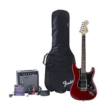 Squier Affinity Strat HSS/FM15G Amp, CAR · Set guitarra eléctrica: Amazon.es: Instrumentos musicales