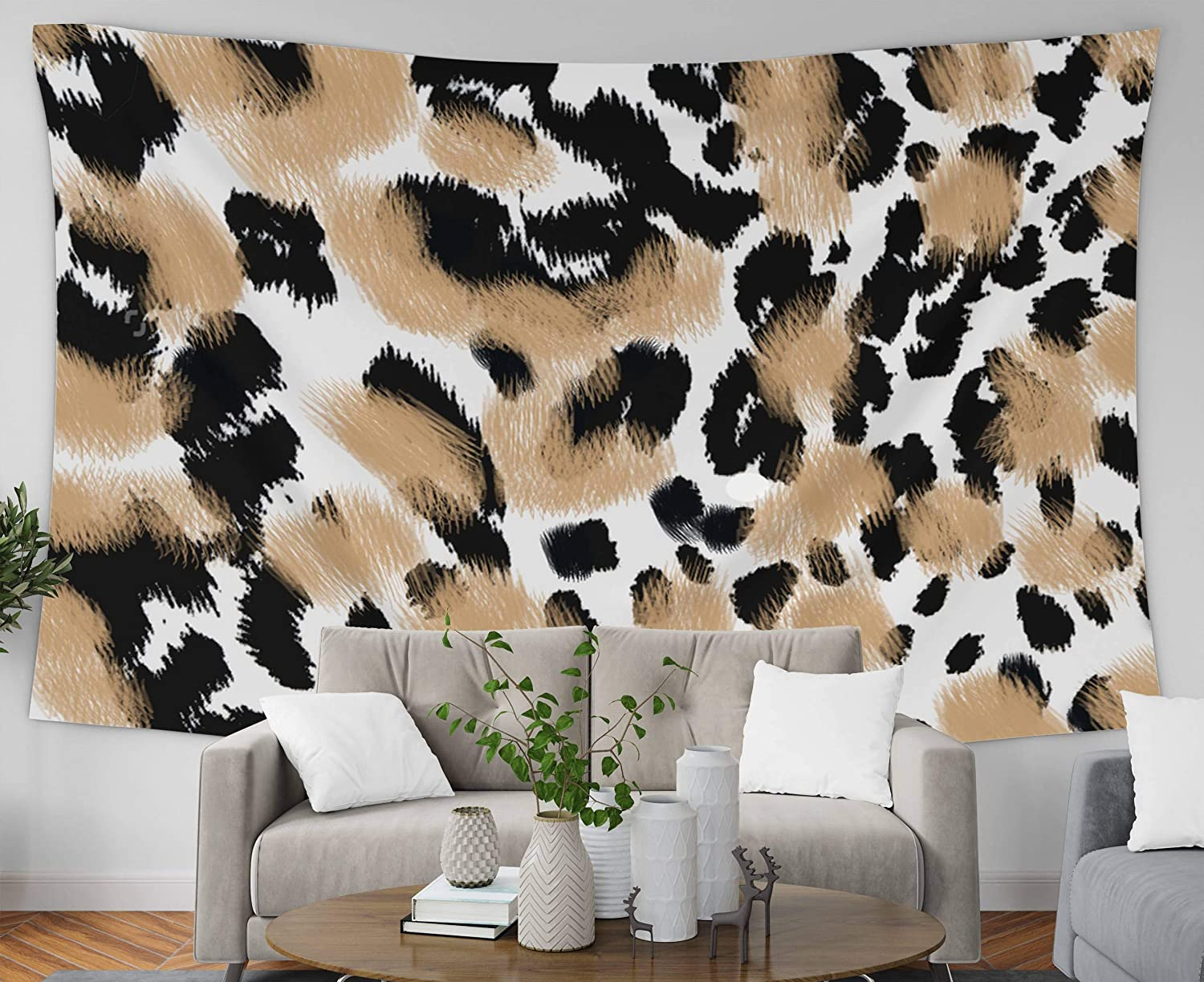 Amazon Com Pamime Wall Hanging Wall Tapestry Home Decor Tapestry Animal Print Leopard Ure Background Dorm Room Bedroom Living Room 80x60 Inches 200x150cm Bedspread Inhouse Home Kitchen