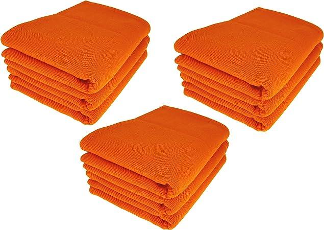 Daloual 9 x – Trapo/Paño de Cocina y Gamuza de limpieza/100% algodón Naranja: Amazon.es: Hogar