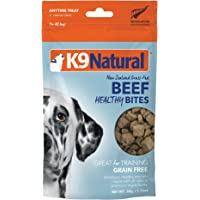 Freeze Dried Dog Treats by K9 Natural - Perfect Grain Free, Healthy, Hypoallergenic Limited Ingredients Snacks for All Dog Types - Raw, Freeze Dried Treats - Healthy Beef Bites - 1.76oz Pack