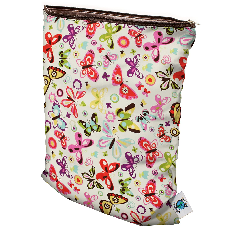 Small Planet Wise Wet Diaper Bag Butterflies