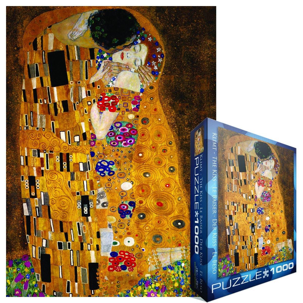Amazon.com: Gustav Klimt The Kiss 1000 Piece Jigsaw Puzzle by Eurographics:  Toys & Games