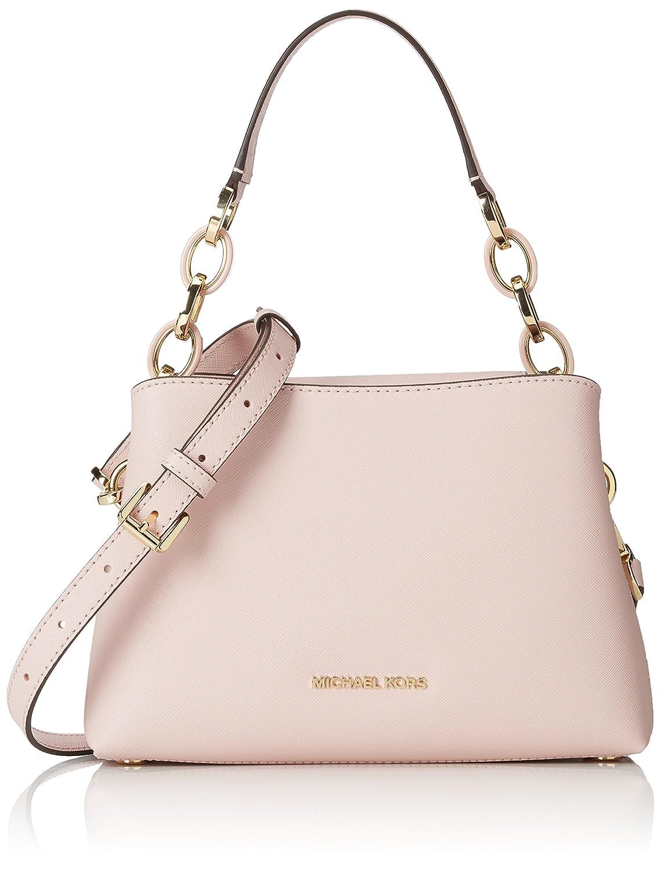 7d4eaf7a010247 MICHAEL MICHAEL KORS Portia small saffiano leather shoulder bag Blossom:  Handbags: Amazon.com