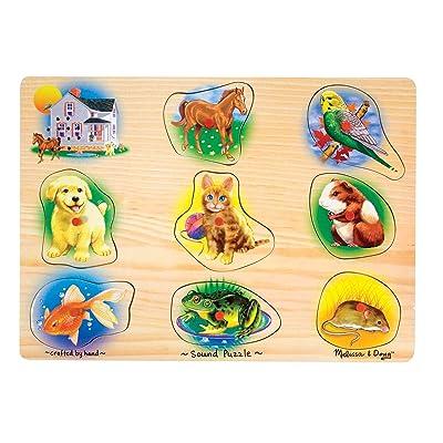 Melissa & Doug Pets Sound Puzzle: Melissa & Doug: Toys & Games