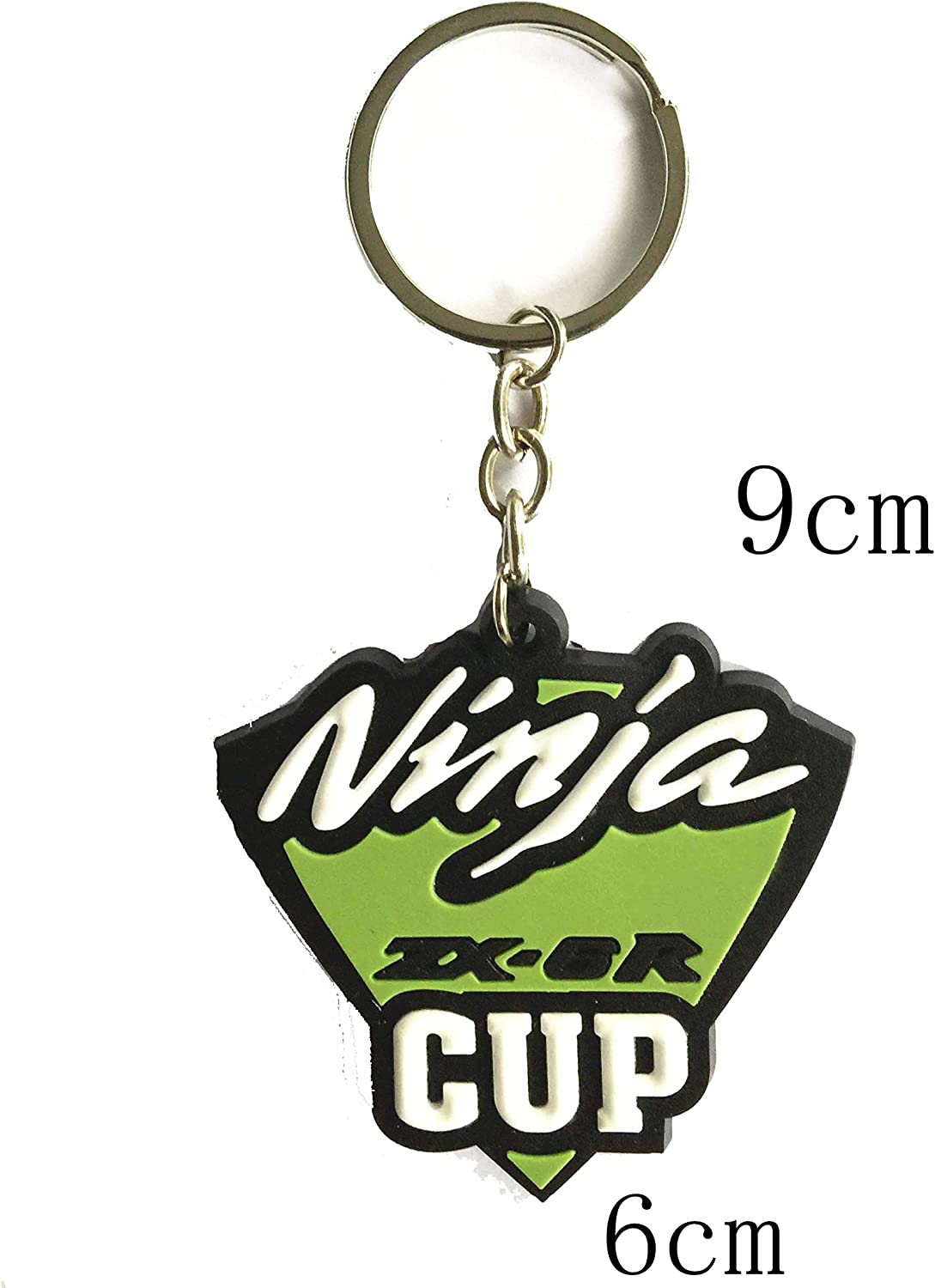 Decal Story Red Rubber Key Chain Ring Fob Holder for Kawasaki Ninja