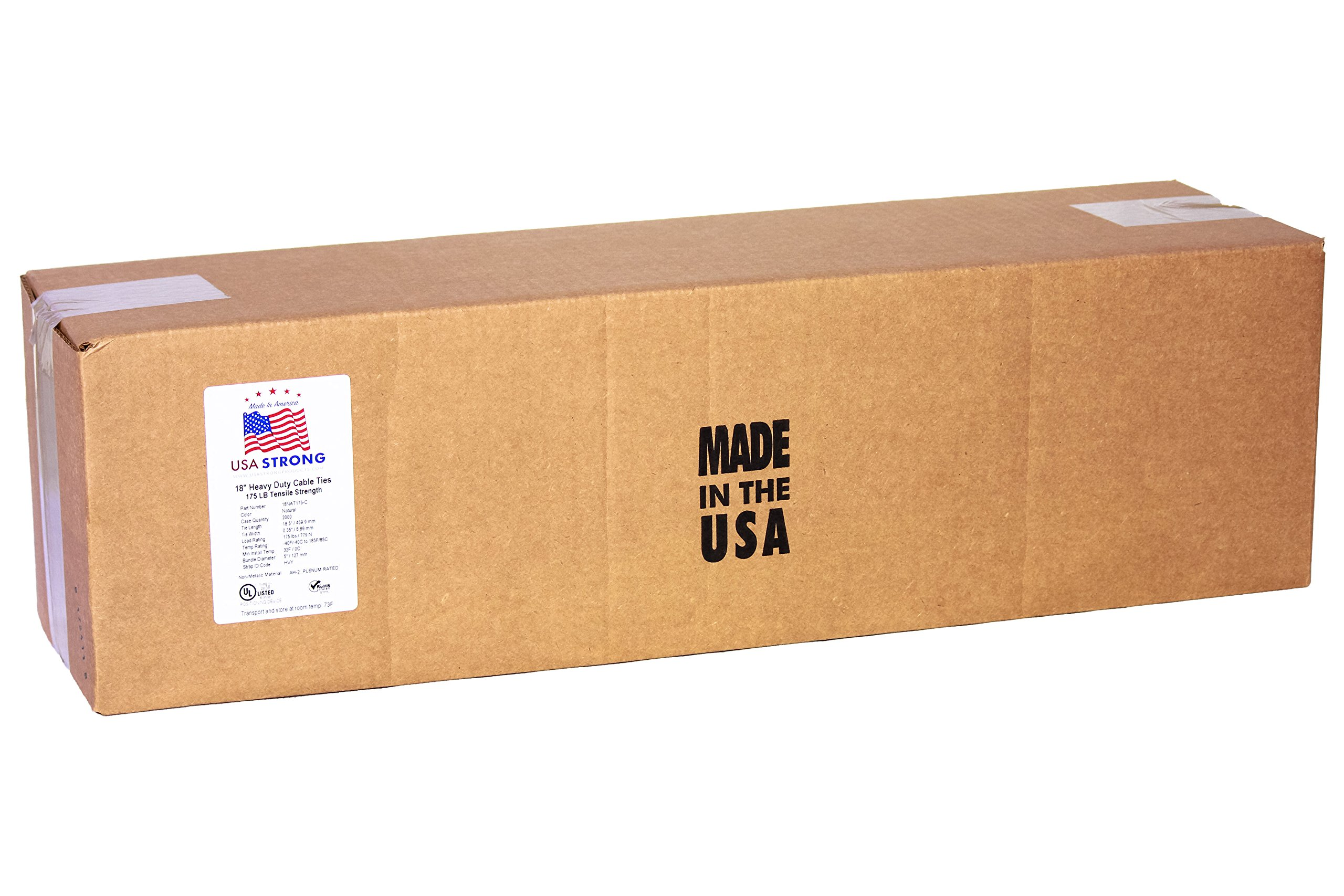 Heavy Duty Cable Ties Bulk Wholesale Prices. 18 Inch Natural White Premium Industrial Grade Shipped FLAT. Large Pliable and Durable Zips | 20 Packs of 50 | 1000 Cable Ties | Made in The USA
