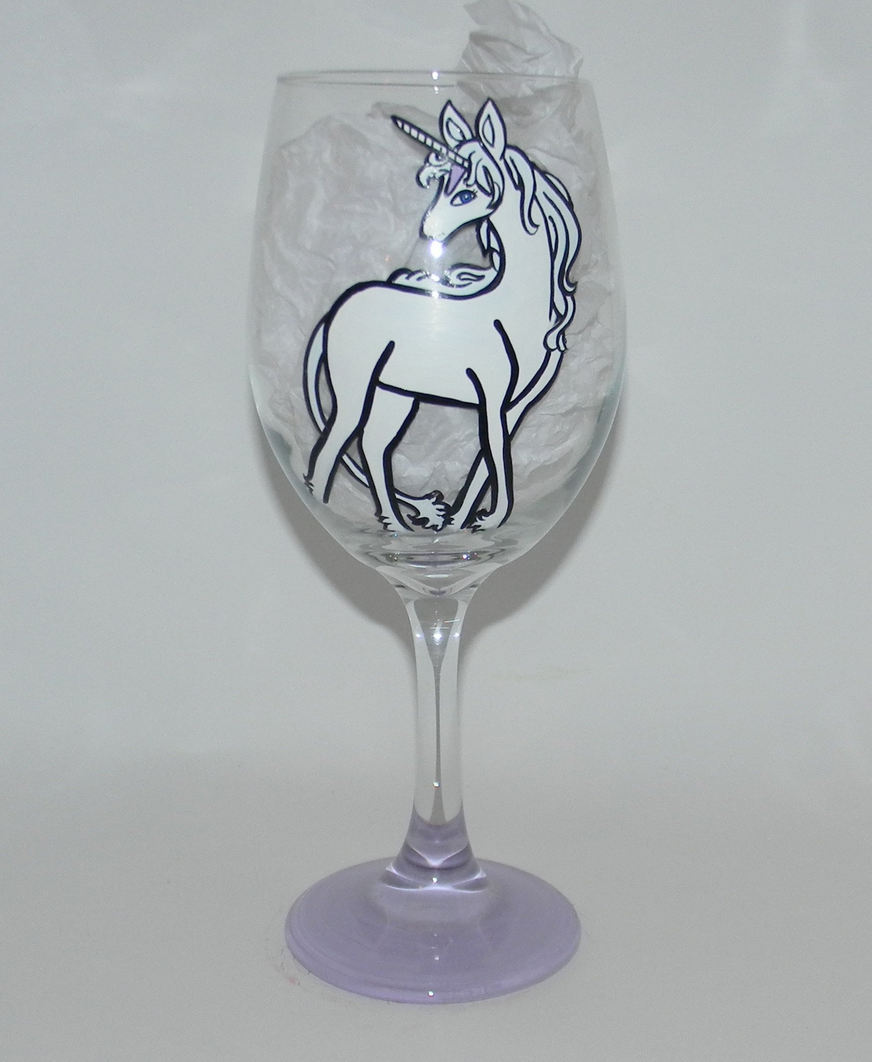 The Last Unicorn wine glass