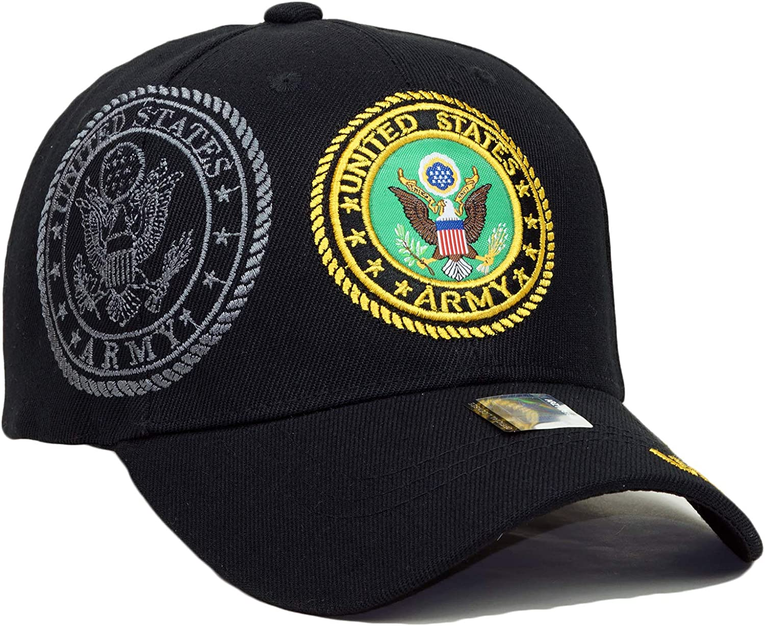 Army Veteran Official Licensed Embroidery Hat Adjustable Military Retired Baseball Cap