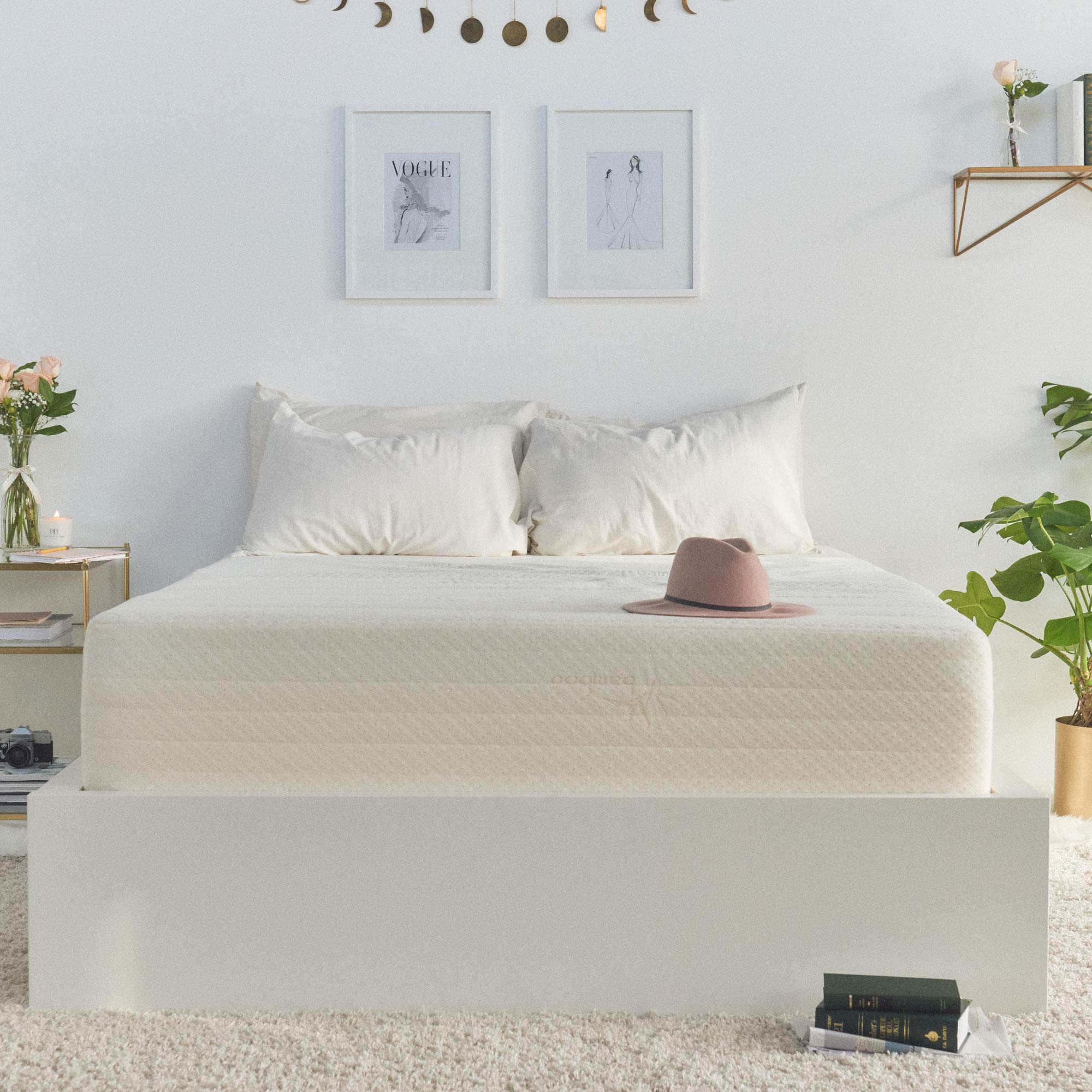 Brentwood Home Cypress Mattress, Bamboo Derived Rayon Cover, Gel Memory Foam, Made in USA, 13-Inch, Twin XL