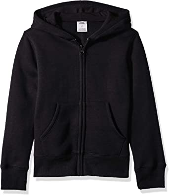 Essentials Girls Fleece Zip-up Hoodie Hooded Sweatshirt