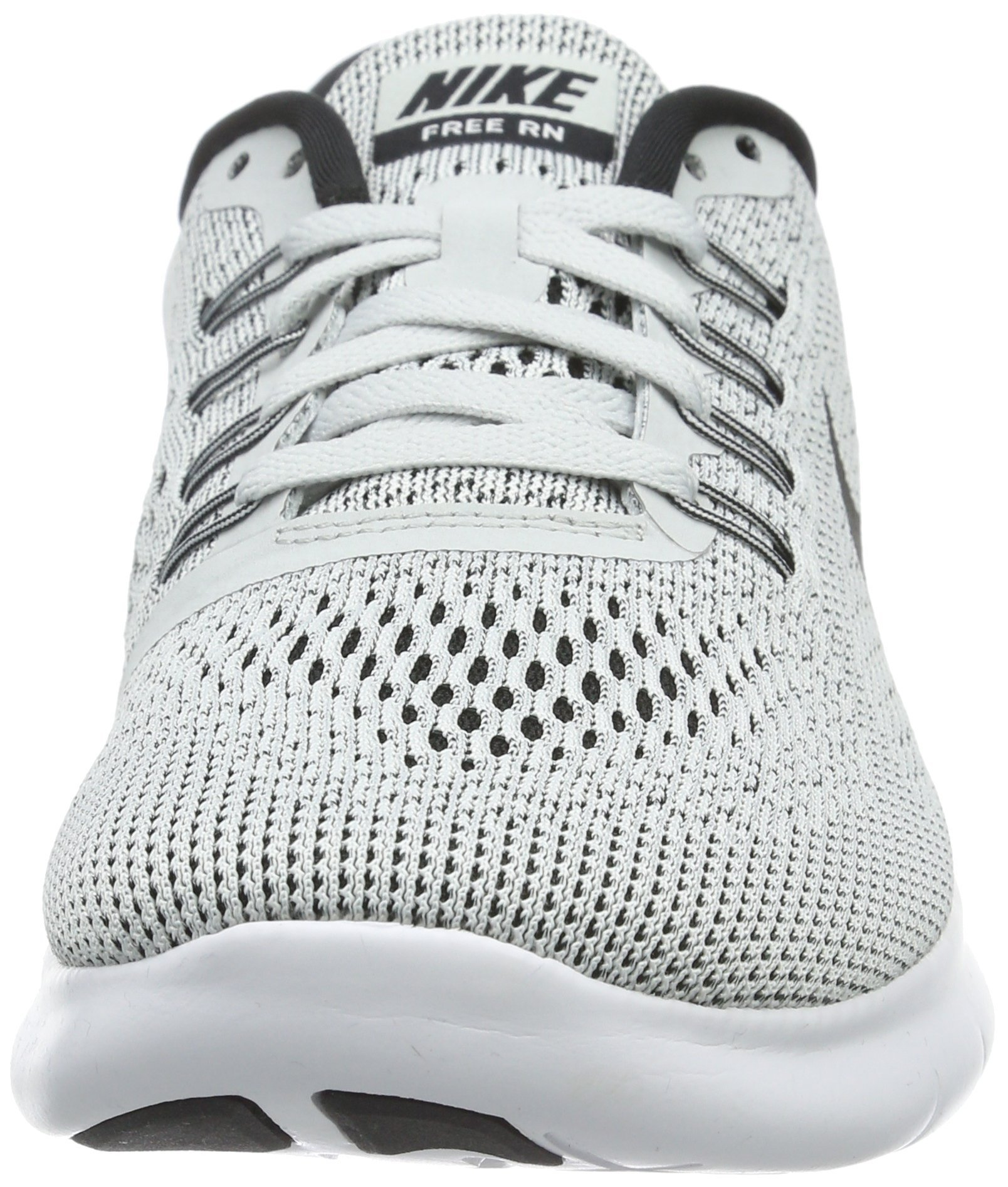 Nike Womens Free RN Running Shoe White/Black/Pure Platinum 6 by Nike (Image #4)