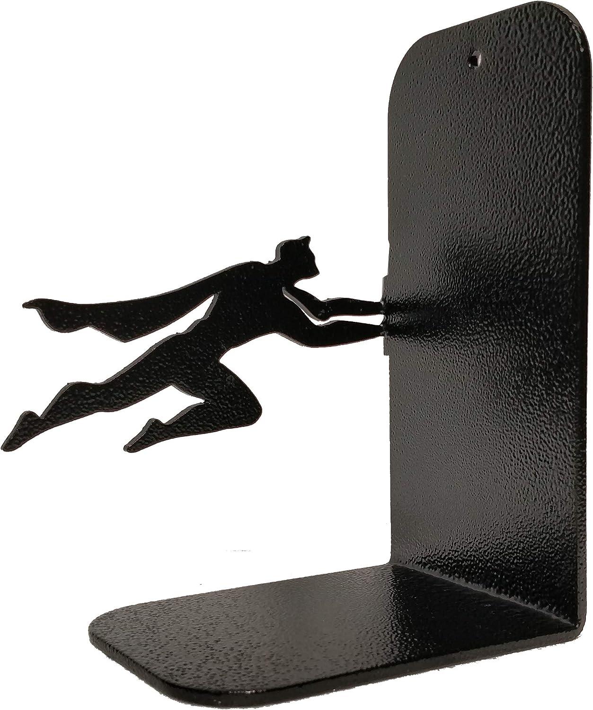 einzigartige Buchst/ützen Buch /& Hero Buchstopper Buchst/ütze schwarze Metall-Superhelden-Buchst/ützen Geschenke f/ür Buchliebhaber Schwarz 1 Geschenke f/ür Geeks