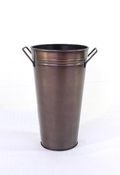 Amazon Hosley Set Of 3 Antique Bronze Galvanized Floral Vases