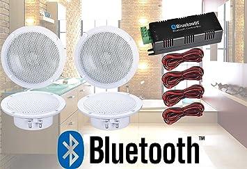 digitalis audio bluetooth ceiling speaker kit bluetooth amplifier rh amazon co uk