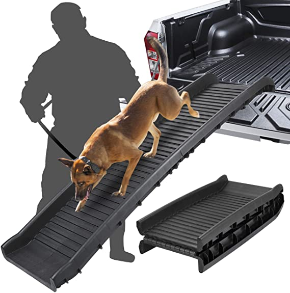 BBBuy 62 Inches Foldable Pet Ramp Dog and Cat Safety Bi-fold Ramp Ladder Portable Travel for Cars