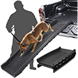 BBBuy 62 Inches Foldable Pet Ramp Dog and Cat Safety Bi-fold Ramp Ladder Portable Travel for Cars, Trucks, SUVs…