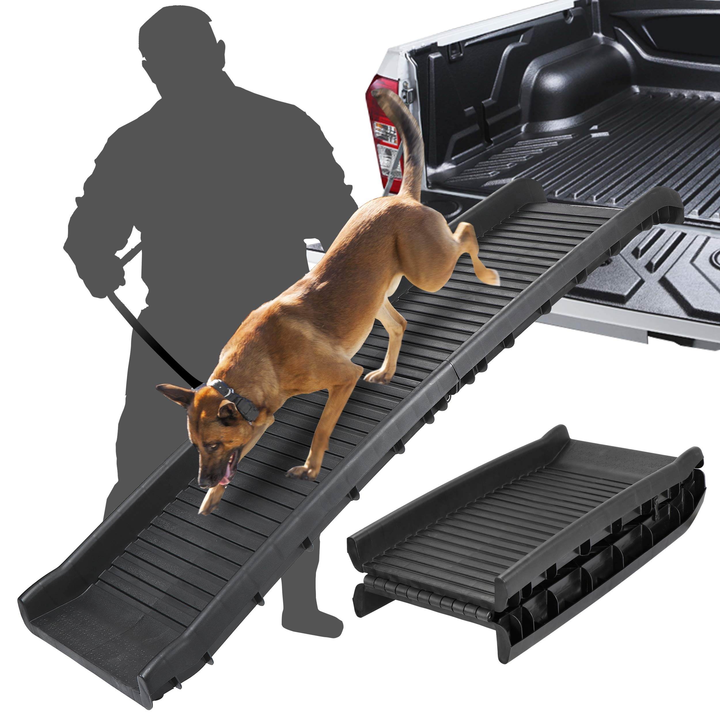 ZENY Bi-Fold Pet Ramp for Dog and Cat Ramp Great for Trunk Back Seat Ladder Step Car SUV by ZENY
