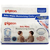 Pigeon Baby Wipes Moisturizing Cloths, 70ct (Pack of 2)