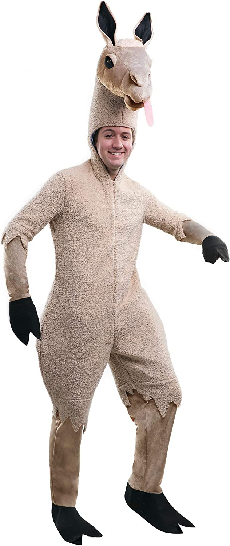 Amazon Com Adult Llama Costume Furry Llama Onesie Costume For Men And Women Clothing